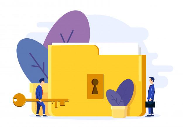 two men open lock folder 92863 37